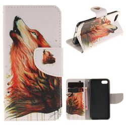 Color Wolf PU Leather Wallet Case for iPhone 7 7G(4.7 inch)