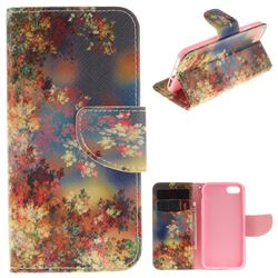 Colored Flowers PU Leather Wallet Case for iPhone 7 7G(4.7 inch)