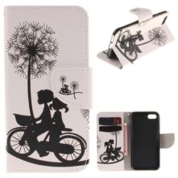 Cycling Dandelion PU Leather Wallet Case for iPhone 7 7G(4.7 inch)