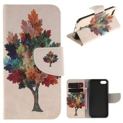 Colored Tree PU Leather Wallet Case for iPhone 7 7G(4.7 inch)