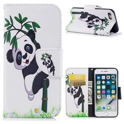 Bamboo Panda Leather Wallet Case for iPhone 7 7G(4.7 inch)