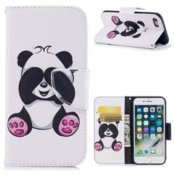 Lovely Panda Leather Wallet Case for iPhone 7 7G(4.7 inch)