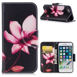 Lotus Flower Leather Wallet Case for iPhone 7 7G(4.7 inch)