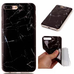 Black Soft TPU Marble Pattern Case for iPhone 7 Plus (5.5 inch)