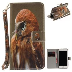Young Eagle Hand Strap Leather Wallet Case for iPhone 7 Plus 7P(5.5 inch)