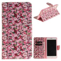 Intensive Floral PU Leather Wallet Case for iPhone 7 Plus 7P(5.5 inch)