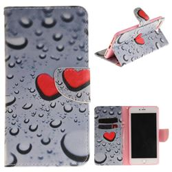 Heart Raindrop PU Leather Wallet Case for iPhone 7 Plus 7P(5.5 inch)