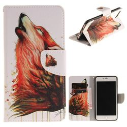 Color Wolf PU Leather Wallet Case for iPhone 7 Plus 7P(5.5 inch)