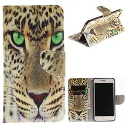 Yellow Tiger PU Leather Wallet Case for iPhone 7 Plus 7P(5.5 inch)