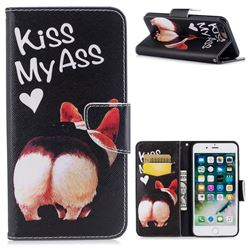 Lovely Pig Ass Leather Wallet Case for iPhone 7 Plus 7P(5.5 inch)