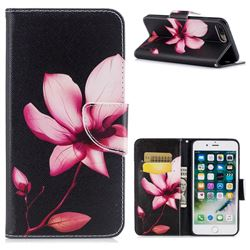 Lotus Flower Leather Wallet Case for iPhone 7 Plus 7P(5.5 inch)