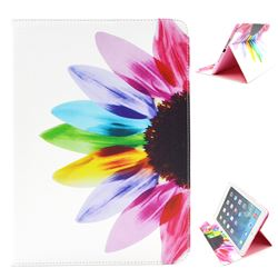 Seven-color Flowers Folio Stand Leather Wallet Case for iPad Air / iPad 5
