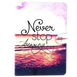 Never Stop Dreaming Folio Flip Stand Leather Wallet Case for iPad Air / iPad 5