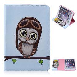 Folio Stand Leather Wallet Case for iPad Mini / iPad Mini 2 / iPad Mini 3 - Owl Pilots