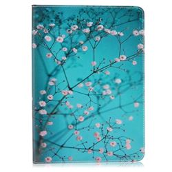 Blue Plum flower Folio Stand Leather Wallet Case for iPad Pro 9.7 inch