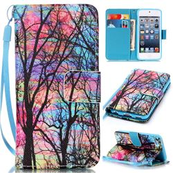 Color Tree Leather Wallet Phone Case for iPod touch iTouch 5 6