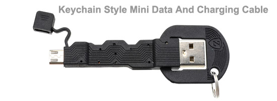 Keychain Style Mini Data And Charging Micro USB Cable