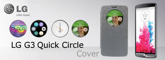 Wholesale LG G3 Quick Circle Leather Cases